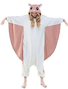 billige julen Kostymer-Voksne Kigurumi-pysjamas Ekorn / Flyvende ekorn Onesie-pysjamas Kostume Polar Fleece Rosa Cosplay Til Pysjamas med dyremotiv Tegnefilm Halloween Festival / høytid / Jul
