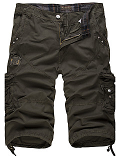 cheap Men's Clothing-Men's Active / Military Cotton Loose / Shorts Pants - Solid Colored / Weekend