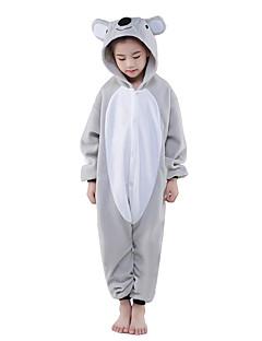 billige Kigurumi-Barne Kigurumi-pysjamas Koala Onesie-pysjamas Polar Fleece Grå Cosplay Til Gutter og jenter Pysjamas med dyremotiv Tegnefilm Halloween Festival / høytid