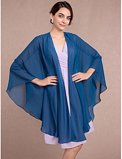 cheap Wedding Wraps-Sleeveless Chiffon Wedding Party Evening Women's Wrap With Scales Capes