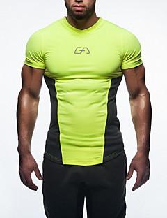 billige Løbetøj-Herre Løbe-T-shirt - Rød, Grøn, Blå Sport Toppe Træning & Fitness, Løb Kortærmet Høj Styrke, Blød, Bekvem Elastisk Klassisk
