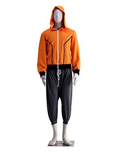 """Inspirert av Naruto Naruto Uzumaki Anime  """"Cosplay-kostymer"""" Cosplay Klær Ensfarget Ermeløs Frakk Shorts Til Mann"""