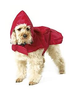 お買い得  犬用ウェア-ネコ 犬 レインコート 犬用ウェア 防水 ソリッド ブラック レッド ブルー コスチューム ペット用