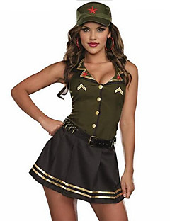 baratos Fantasias Sexy-Soldado/Guerreiro Policial Costumes carreira Fantasias de Cosplay Festa a Fantasia Mulheres Natal Dia Das Bruxas Carnaval Ano Novo