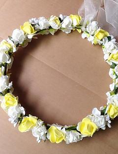 cheap Flower Girl Headpiece-Foam Wreaths Headpiece Wedding Party Elegant Classical Feminine Style