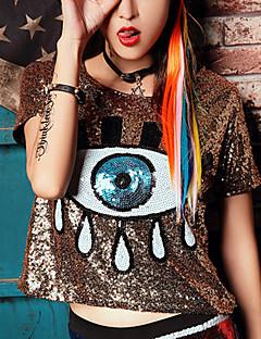 Χαμηλού Κόστους New Colorful Season-Γυναικεία T-shirt Πουά Στάμπα Πολυεστέρας