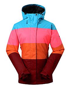 GSOU SNOW Dames Ski-jack waterdicht Houd Warm Winddicht Ultra-Violetbestendig Geïsoleerd Vochtdoorlaatbaarheid Draagbaar Ademend Skiën