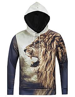 billige Hættetrøjer og sweatshirts til herrer-Herre Langærmet Hattetrøje - 3D Print