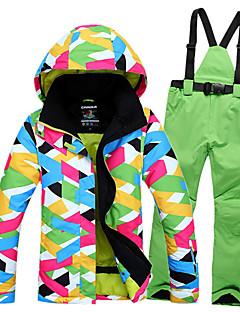 hesapli Narciarstwo i snowboard-GQY® Kadın's Kayak Ceketi ve Pantolonu Su Geçirmez Sıcak Tutma Rüzgar Geçirmez Giyilebilir Kayakçılık Kış Sporları Polyester