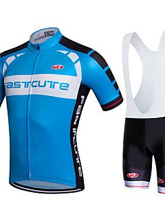 Fastcute Wielrenshirt met strakke shorts Dames Heren Unisex Korte mouw FietsenFietsbroeken/Broekje Sweatshirt Shirt