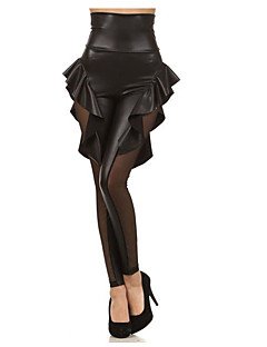 Damer Blondeapplikation Legging,Polyester
