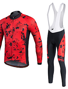 Miloto Cycling Jersey with Bib Tights Men's Unisex Long Sleeves Bike Tracksuit Jersey Tights Bib Tights Top Clothing Suits Bottoms Quick