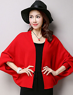 cheap Wedding Wraps-Long Sleeves Voile Casual Women's Wrap With Draping Coats / Jackets