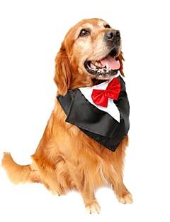 billiga Hundkläder-Katt / Hund Smoking / Knyta / Fluga Hundkläder Rosett Purpur / Röd / Blå Terylen Kostym För husdjur Sommar Herr / Dam Födelsedag /