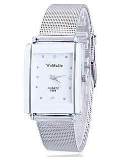 billige Leopard-ure-Dame Quartz Armbåndsur Rhinsten Imiteret Diamant Rustfrit stål Bånd Blomst Afslappet Mat Sort Mode Guld