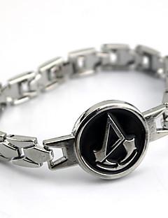 halpa -Korut Innoittamana Assassin's Creed Connor Anime Cosplay-Tarvikkeet rannekorut Hopea Metalliseos Uros / Naaras