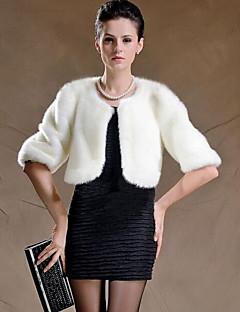 Χαμηλού Κόστους -Γυναικεία Παλτό Εξόδου Βίντατζ - Μονόχρωμο Γούνα Αλεπούς