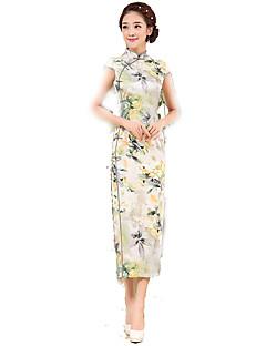 Skjørter Klassisk og Traditionel Lolita Cosplay Lolita Kjoler Vintage Kortærmet Lang Længde Til Silke