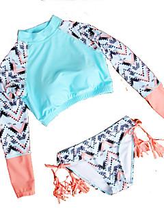 Kvinner Fargeblokk / Dusker / Blomstret / Ensfarget / Snøring Stropper Bikini Nylon / Polyester / Spandex