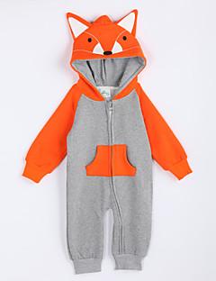 女の子の カジュアル/普段着 カラーブロック コットン,オーバーオール&ジャンプスーツ 秋 グレー