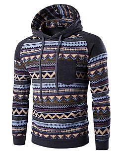 billige Hættetrøjer og sweatshirts til herrer-Herre Sport Langærmet Hattetrøje Trykt mønster