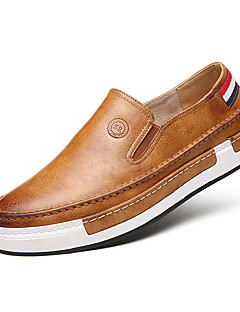 cheap -Men's Comfort Loafers Faux Leather Spring / Fall British Loafers & Slip-Ons Walking Shoes Gray / Yellow / Brown