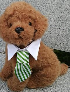 billiga Hundkläder-Hund Knyta/Fluga Hundkläder Pläd/Rutig Svart Kaffe Röd Grön Regnbåge Cotton Kostym För husdjur Herr Semester Cosplay