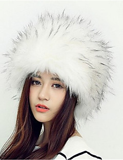 baratos Acessórios de Inverno-Mulheres Floppy - Estilo Clássico Animal / Preto / Branco / Marrom / Cinzento / Outono