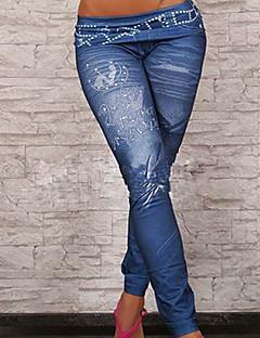 tanie Getry-Damskie Bawełna Jeans Jednolity kolor Legging - Jendolity kolor
