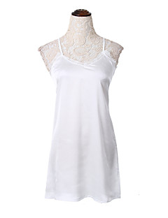 Women's Going out Sexy Sheath DressSolid Strap Above Knee Sleeveless White Cotton Summer High Rise Inelastic Thin