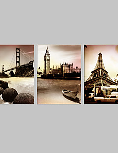 Intinsa Canvas Art Arhitectura celebre Set de 3