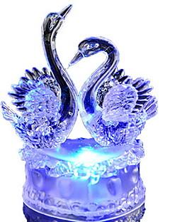 tanie Światła prezentów-kolorowe romantyczny łabędź doprowadziły noc światło piękny łabędź led lampka nocna idealny na prezent ślubny dla przyjaciół dzieci