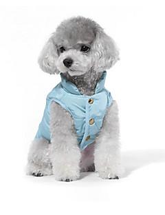 billiga Hundkläder-Hund Tröja Dunjackor Hundkläder Ängel & Djävul Grön Blå Cotton Kostym För husdjur Herr Dam Ledigt/vardag Mode