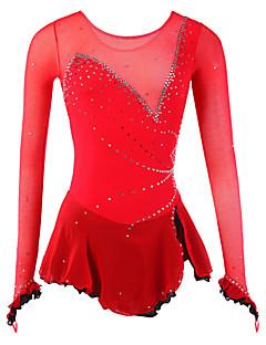 フィギュアスケート ドレス 女性用 女の子 アイススケートウェア スパンデックス メッシュ 高弾性 ファッション ノベルティ柄 ダムライト 性能 練習 耐久性 高通気性 長袖 スケートウェア アイススケート フィギュアスケート ドレス