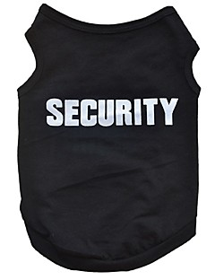 Cotton Black Security Vest Spring Summer Clothing Breathable and Cool  Clothes for Dog