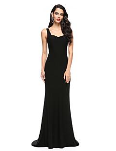 Sereia Cauda Escova Microfibra Jersey Evento Formal Vestido com Renda de TS Couture®