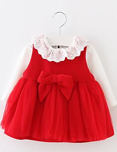 Mädchen Kleidungs Set-Lässig/Alltäglich einfarbig Baumwolle Frühling / Herbst Blau / Rot