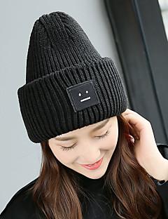 billige Trendy hatter-Unisex Kontor Aktiv Beanie Hatt Ensfarget