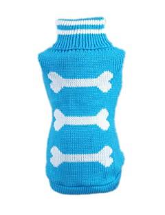 billiga Hundkläder-Katt Hund Tröjor Hundkläder Ben Blå Rosa Akrylik Fiber Kostym För husdjur Herr Dam Ledigt/vardag