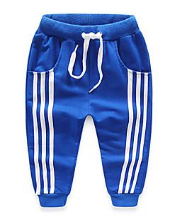 tanie Odzież dla chłopców-Spodnie Bawełna Dla chłopców Codzienny Patchwork Wiosna Jesień Kreskówka Prążki Black Dark Blue Gray Czerwony Niebieski
