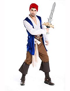 Mann Halloween Jul Karneval Barnas Dag Nytt År Oktoberfest Festival / høytid Halloween-kostymer Hvit+Blå Trykt mønster