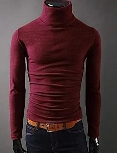 お買い得  メンズファッション&ウェア-男性用 スポーツ Tシャツ タートルネック スリム ソリッド