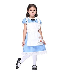 Cosplay Suits / Kjoler Inspirert av AngelBeats Alice Margatroid Anime Cosplay Tilbehør Kjole / Forkle Blå Polyester Barn