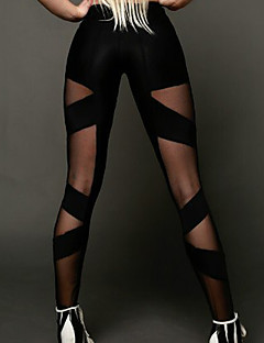 Women's Polyester Medium Cross - spliced Sporty Legging,Solid This Style is TRUE to SIZE.