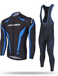 cheap Cycling Clothing-XINTOWN Men's Long Sleeves Cycling Jersey with Bib Tights Bike Bib Tights Jersey Pants / Trousers Clothing Suits, Thermal / Warm,