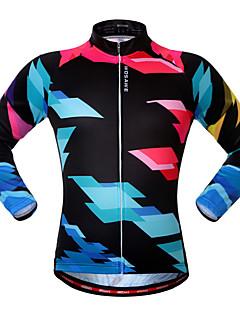 WOSAWE Unisexe Vélo Shirt Maillot Hauts/Tops Zip frontal Respirable Bandes Réfléchissantes Confortable Polyester Sport de détente