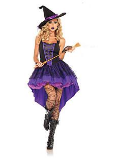 baratos Fantasias de Halloween-Bruxa Fantasias de Cosplay Uniformes Sensuais Roxo Terylene Acessórios para Cosplay Dia Das Bruxas / Carnaval Fantasias