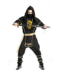 Pirat Cosplay Kostumer Mann Halloween Jul Karneval Festival/høytid Halloween-kostymer Svart Ensfarget
