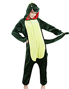 billige julen Kostymer-Kigurumi-pysjamas Dinosaur Onesie-pysjamas Kostume Fløyel Mink Grønn Cosplay Til Voksne Pysjamas med dyremotiv Tegnefilm Halloween