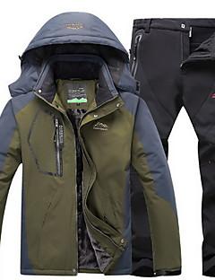 tanie Odzież turystyczna-Męskie Turystyczna kurtka i spodnie Na wolnym powietrzu Zima Wiatroodporna, Wodoodporny, Keep Warm Topy / Doły Camping & Turystyka / Sporty zimowe / Bieganie / Elastyczny / a
